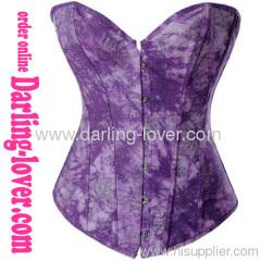 New Sexy Print Purple Corset