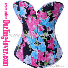 New Fashion Flower Overbust Corset