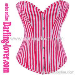New Red Stripe Corset