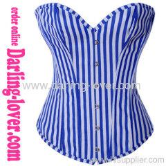 New Blue Sexy Stripe Corset