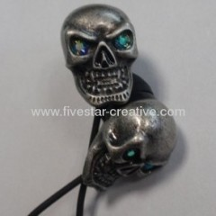 Gothic Metal Skull Earbud Lightweight In Ear Headphones