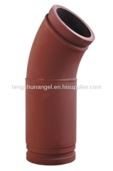 45 Degree+200mm Concrete Pump Spare Part Pipe Elbow for PM
