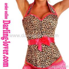 New Leopard Sexy Strip Corset