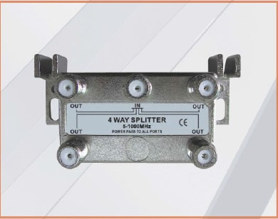 CE APPROVED 7.3-8.2 dB Insertion L 1 IN 4 OUT 4-WAY SPLITTER