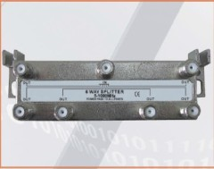 5-1000MHZ LOTTECK 33-1G6W-N/B 6-WAY SPLITTER
