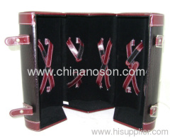 High quality luxury multifunction leather wine box