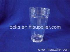 transparent plastic drinking cup