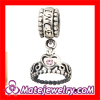 28 colors Pandora Silver My Princess Dangle Charm Beads For Bracelets