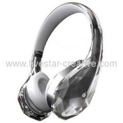 Monster Diamond Tears Edge On-Ear Headphones White