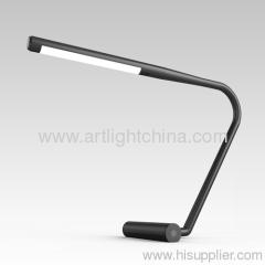 Captivating LED Table Lamp. Grey and Black