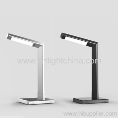 Metallic Silver Led Office Decorative Lamp
