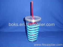 hard plastic water cup with straw