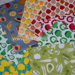 Fruits And Vegetables printed twill fabric