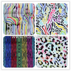 Colorful zebra-stripe printed twill fabric