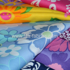 Flower gardens printed twill fabric
