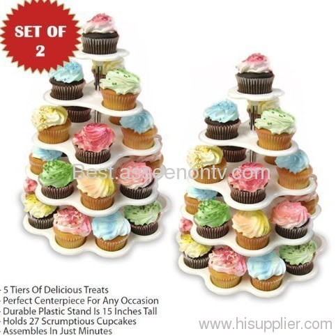 5 tier cupcake stand cupcake standing as seen on t v