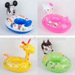 Cartoon characters inflatable kid swim seat
