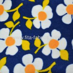 100%Polyester Flower garden printed polar fleece for blanket