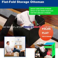 FLAT FOLD STORAGE OTTOMAN