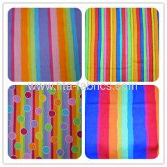 Rainbow printed blanket caroset