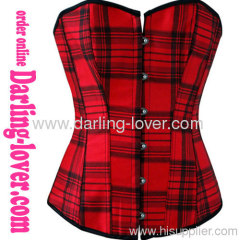 Sexy Plaid Red Corset