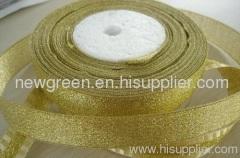 gold metalic holiday ribbon