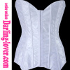 New White Lace Zipper Corset
