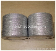 silver metalic holiday ribbon