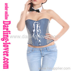New Jeans Lace-up Overbust Corset