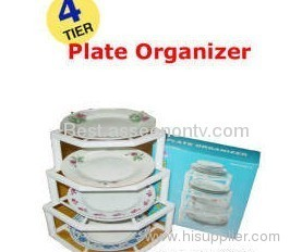 Plate Organizer Plate Holder Collapsible plastic kitchen pla