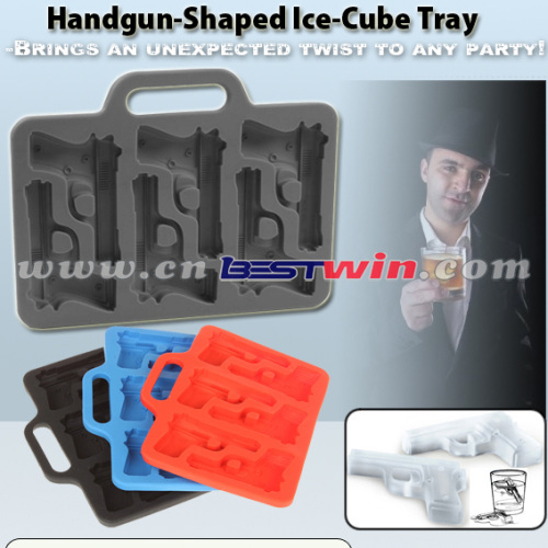HANDGUN SHAPED ICE CUBE TRAY