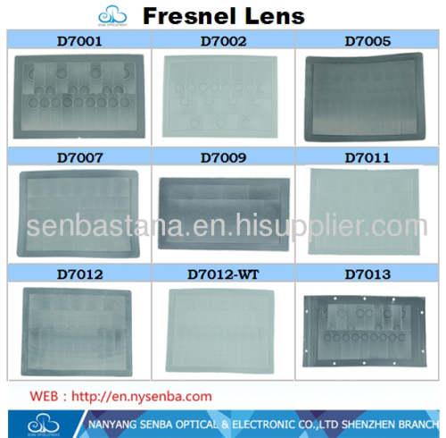 Pir Sensor Fresnel Lens For Motion Detector Application