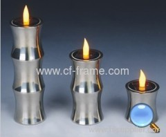 solar bamboo style candle light