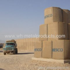 Multi-layer stacking hesco barrier