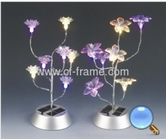 solar christmas flower light for decoration