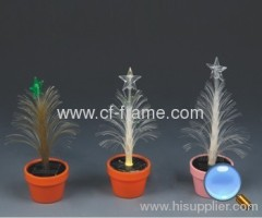 solar christmas tree night light