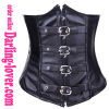 Black Sexy Leather Belt Corset