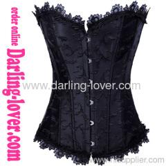 Wholesale Fashion Black Flowers Corset