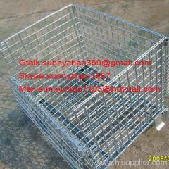 wire mesh container /storage cage/wire pallet