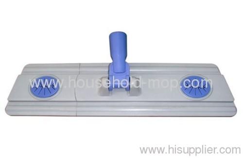 Plastic microfiber chenille flat mop frame head