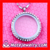 Wholesale Stainless Steel Crystal Glass Living Floating Charm Locket Necklace