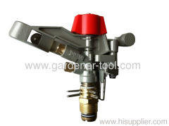 Brass agriculture water impact sprinkler head with plastic cap