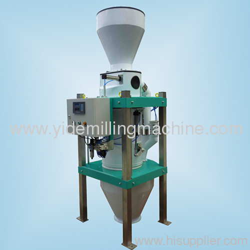 Flour flow meter measure weight of flour before enter flour bin calculate flour extraction rate