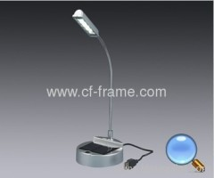 solar 4 led reading lamp With USB Cable