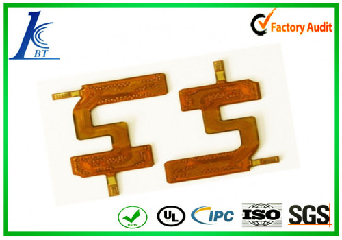 HDL flex pcb made of polyamide with yellow mask Turnkey