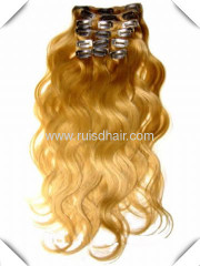 100% INDIAN VIRGIN REMY GOOD QUALITY clip in hair extension
