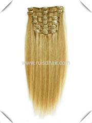 100% VIRGIN REMY hair GOOD QUALITY clip in hair extension