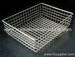 Stainless steel Wire mesh washing basket