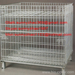 Foldable Mesh Container/ Collapsible Metal Container