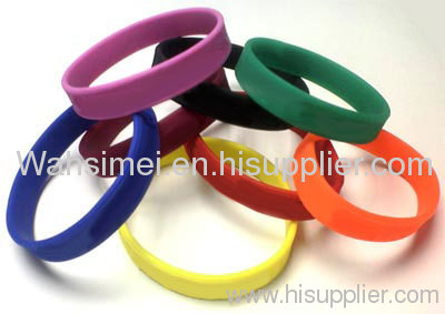 Custom Promotional gift Slicone Bracelet with printed logo